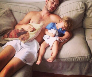 baby, father, and goals image