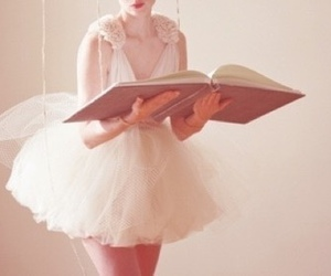 book, ballet, and dress image
