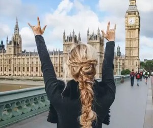 girl, hair, and london image