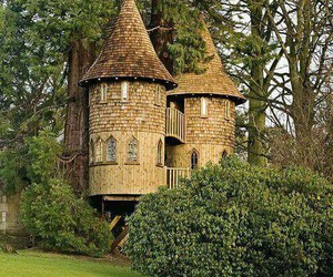 treehouse, castle, and house image