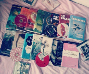 books, cds, and john green image