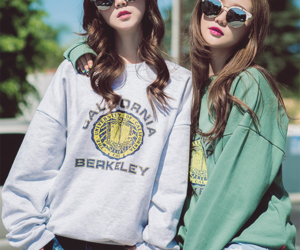 asian, korean, and sunglasses image