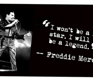 Freddie Mercury, legend, and Queen image