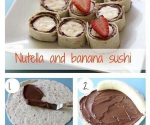 nutella, banana, and food image
