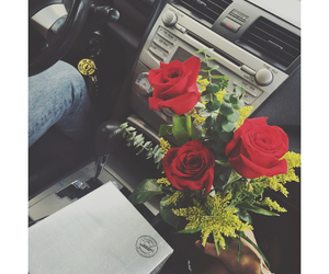 birthday, gift, and roses image