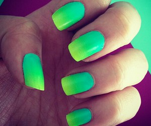 girl, ombre, and nails image