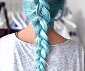hair, braid, and blue image