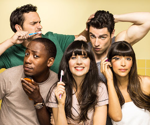 new girl, jess, and zooey deschanel image