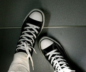converse, add a tag, and black and white image