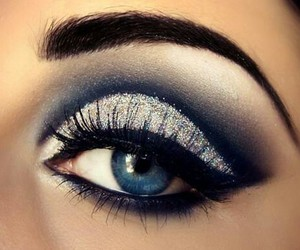 blue, eye, and eyebrows image