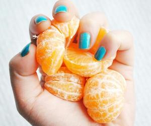 orange, nails, and fruit image