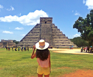 chichen itza, girl, and mexico image