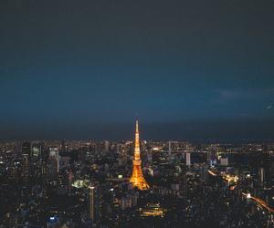 light, night, and tower image