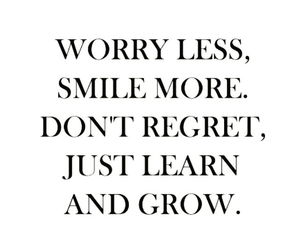 smile, quote, and grow image