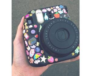 polaroid, black, and stickers image