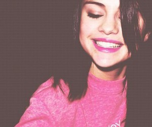 selena gomez, pink, and smile image