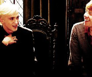 harry potter, draco malfoy, and rupert grint image
