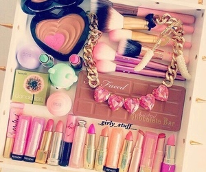 lipstick, makeup, and too faced image