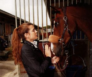 charlotte casiraghi, girl, and horse image