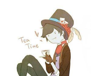adventure time, marshall lee, and tea time image