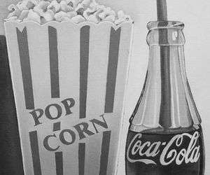 movie, Pop cOrn, and coca cola image
