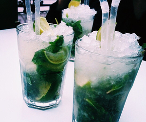 drink, cocktail, and mojito image