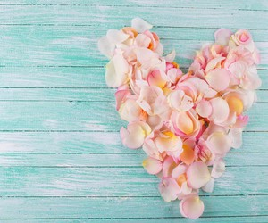 heart, love, and flowers image