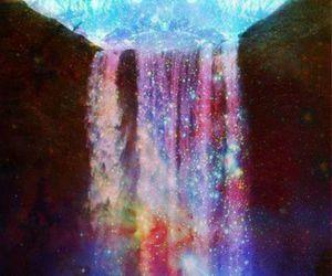 waterfall and galaxy image