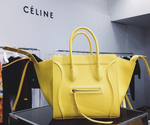 bag, celine, and yellow image