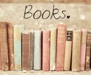 books, vintage, and bookshelf image