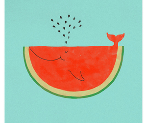 watermelon and whale image