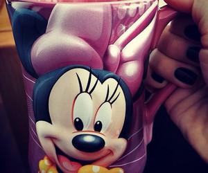 cartoon, minnie mouse, and coffee image