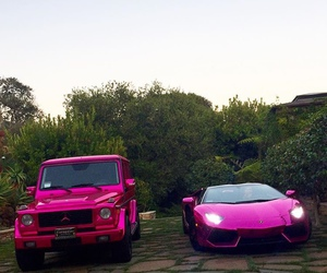car, pink, and girly image