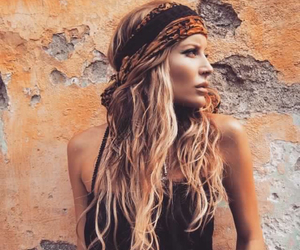 bohemian, girl, and hair image