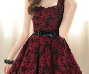 dress, rose, and fashion image