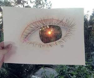 beautiful, drawing, and eyes image