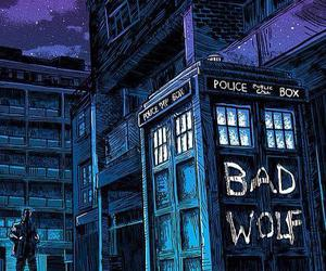 doctor who, bad wolf, and tardis image