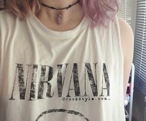nirvana, grunge, and hair image