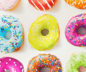 donuts, colorful, and food image