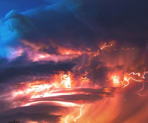 sky, storm, and amazing image