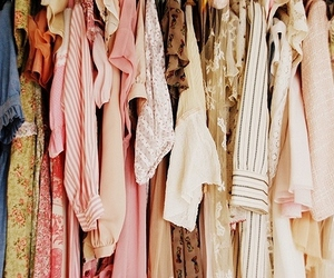 clothes, closet, and pastel image