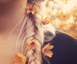 braid, love, and flowers image
