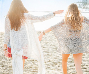 friends, outfit, and beach image