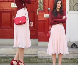 class, pink skirt, and fashion image