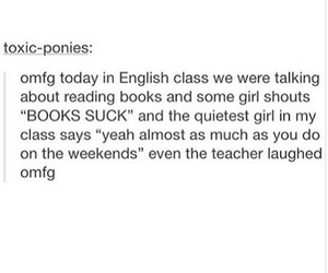 books, class, and funny image