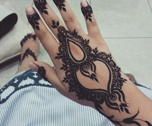 art, hena, and eid image