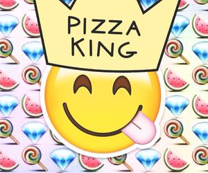 king, pizza, and emoji image