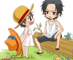 awww, one piece, and portogas d. ace image
