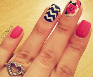 black, happy, and nails image