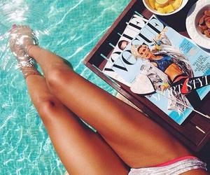 summer, vogue, and pool image